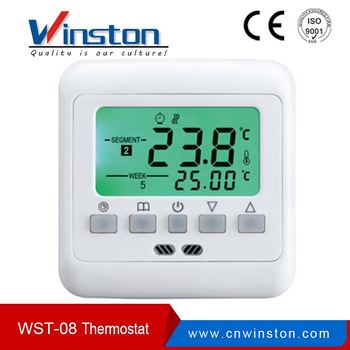 WST08AH indoor programmable easy heating Electronic touch screen room thermostat