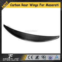 2011 Car carbon fiber rear trunk lip for Maserati rear spoiler auto boot wing