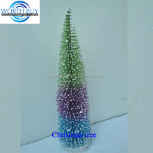 Colorful slim artificial Christmas tree wholesale from Shenzhen factory