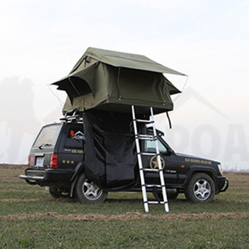 4x4 off road camping bat wing awning roof top tent view bat