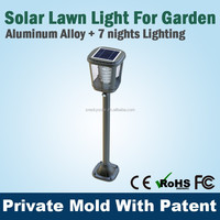 InterSolar Europe warm light solar light parts ,solar led garden post light CE