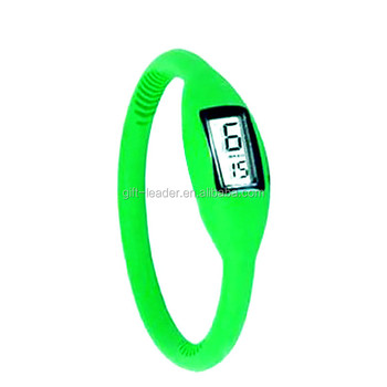 silicone bracelet with pedometer for kids