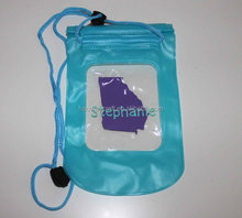 monogrammed waterproof phone pouch with lanyard DIY PVC