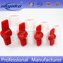 ASTM/DIN/BS/CNS Plastic Ball Valve Sanking PVC Valve ( Socket/Thread)