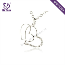2017 fashion jewelry wholesale silver couples necklace pendant