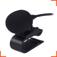 Professionals Car Audio Microphone 3.5mm Jack Plug Mic Stereo Mini Wired External for Auto DVD Radio 3m Long