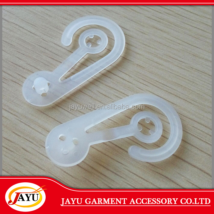 Direct sale clothing use Cheap and clear plastic bag hook