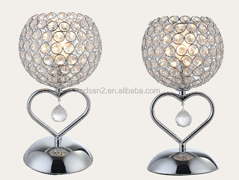 wholesale chinese home goods crystal table lamps