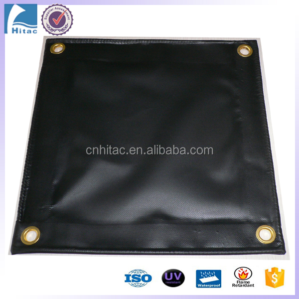 18oz tear-resistant black pvc vinyl fabric truck tarpaulin tarp covers factory