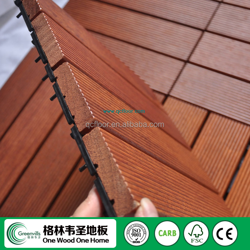300 X 300 X 30mm Indonesian merbau decking