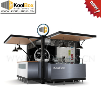 Koolbox 10ft shipping container 3D ice cream kiosk,prefabricated coffee shops design ,portable mobile coffee shop