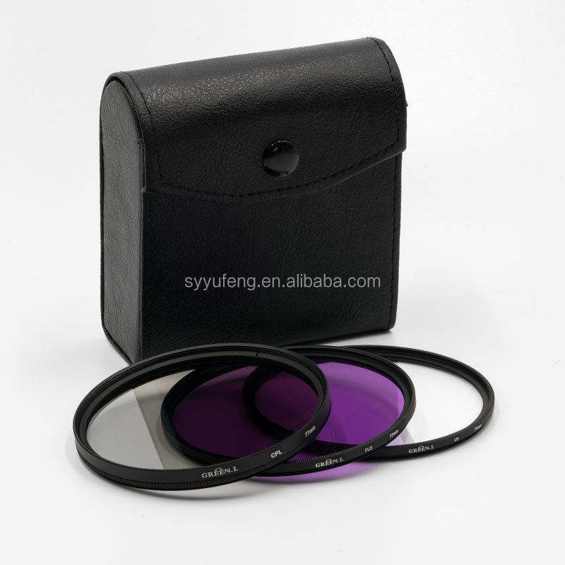 Green.L UV+FLD+CPL Lens Camera Filter For Canon Nikon Pentax Olympus Sigma Tamron Camera Filter