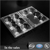 disposable plastic egg tray 6packs