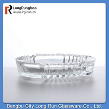 longrun china gome goods exported unusual shaped glass material ashtray cigarettes glass ashtray