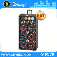 Best selling professional wooden disco laser light speaker with digital audio mixer
