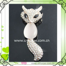 fashion fox shape Sweater chain with rhinestone