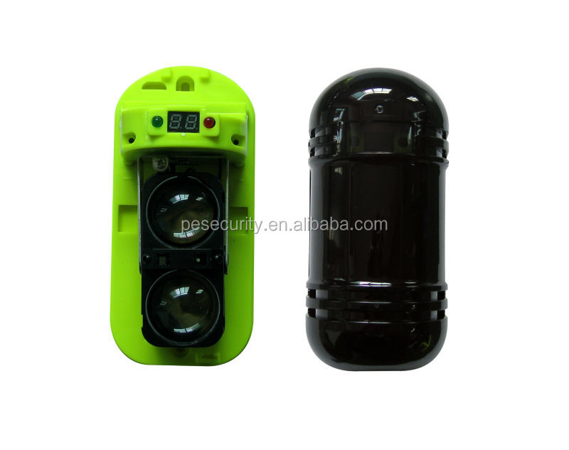 High quality dual infrared photoelectric usage safe guard active beam alarm digital infrared detector with 2 beams