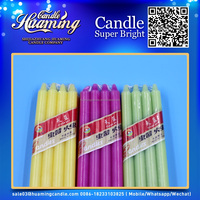Color Stick Candle for Christmas decoration/Multi color stick candles for wholesale