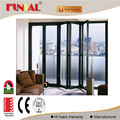 Residential aluminum double entry doors with Double Glazing