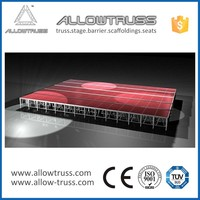 Design custom retractable removable stage platform