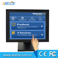 "15"" inch industrial LCD touch screen monitor with VGA USB for POS used in Restaurant supermarket"