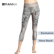 (Factory OEM/ODM/stock)New nylon spandex polyester high waist dry sports seamless thin adults wholesale woman printed yoga pants