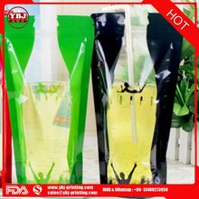 Hot sale resealable stand up beverage bag