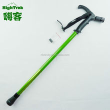 2014 Latest design outdoor sports walking stick with light and alarm