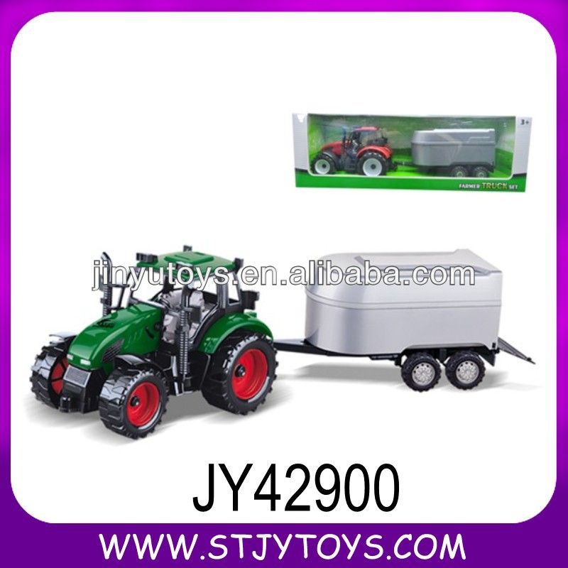 Friction plastic farm tractor toy model