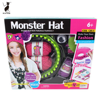 Wholesale Hot Sale Girl DIY Woollen Hat Knit Toys