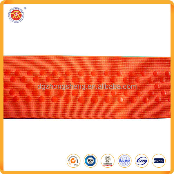 custom printed color silicone coated non-slip elastic webbing