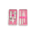 Wholesale mini set Portable 6pc stainless steel waterproof metal manicure kit tools nail art design case nail clipper nail file