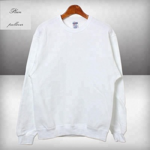 Wholesale blank mens off white pullover hoodie