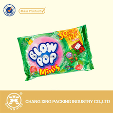 Customized design packaging pouch sugar candy packaging bag/chocolate bar/sweets packaging pouch