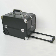 ABS Hard Tool Rolling Trolley Cosmetic Suitcase Makeup Train Boxes Case On Wheels