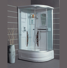 China GUIDA sector new design toughened sliding door hotel home toilet steam shower room cabin