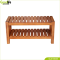 Solid mahogany wood shoe bentch furniture China Supplier