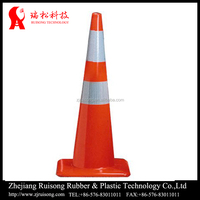 high warning excellent road barriers triangle traffic cone with sand filled