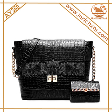 Cuir Nouvelle Dame de Mode Casual Crocodile Serpentine Top Handle Tote D'épaule Bandoulière Sac Satchel Bourse