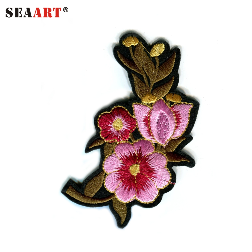 Pink Flowers All Over Embroidery Design Buy All Over Embroidery