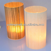 wood sticked glass tube candle holders