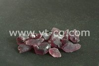 China recycled mixed colored crushed glass chips