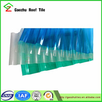corrugated roof solar panels roofing skylight clear polycarbonate sheet with PE film