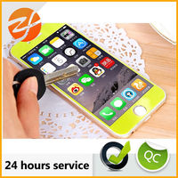 Anti-scratch anti-explosion full cover colorful tempered glass screen protectore for iphone 5
