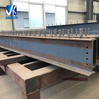 Welded steel beam and column pre fabricated steel structures
