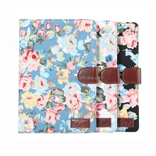 for iPad mini 4 wallet PU leather case pouch, for iPad mini 4 Flower stand case