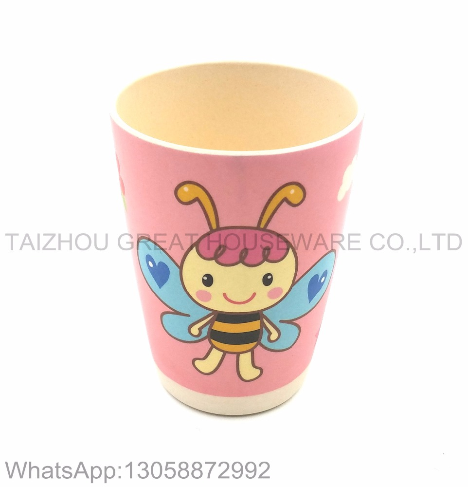2017 hot sale baby eco cup 100% natural bamboo fiber kids drinking cup