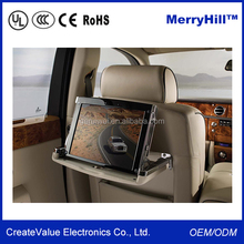 Car Headrest Pillow TV 7 / 8 / 9 / 10 / 12 / 15 inch Taxi LCD Monitor Video Player With BNC Input