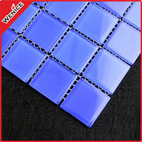 blue mosaic pattern swimming pool tile square 25x25