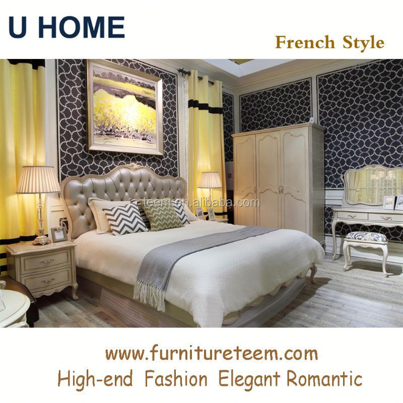 www.furnitureteem.com high end solid wood French style furniture pictures of bedroom sets